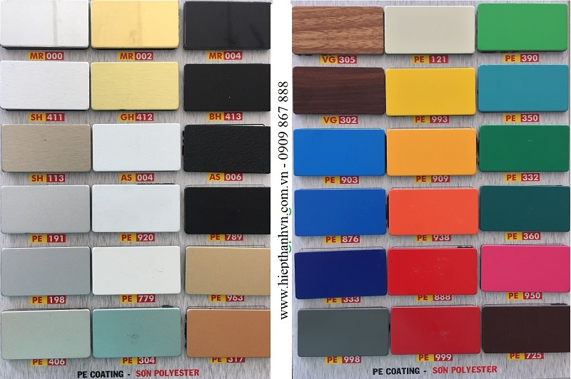 Bảng Màu alu Triều Chen Rất Đa Dạng Màu Sắc