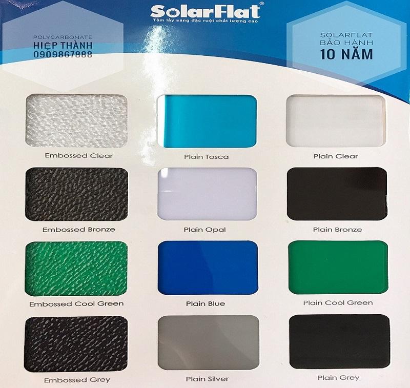 Tấm lợp polycarbonate đặc ruột Solarflat