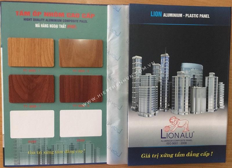 Bảng màu sắc vân gỗ tấm ốp nhôm nhựa alu Lion - 1 trong những thương hiệu alu phân khúc giá rẻ nhất thị trường