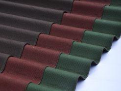Tôn sinh thái Onduline chính hãng có 3 màu nâu đất, đỏ đô và xanh rêu