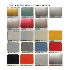 Bảng màu Tấm Alu Alcotop Solid Color