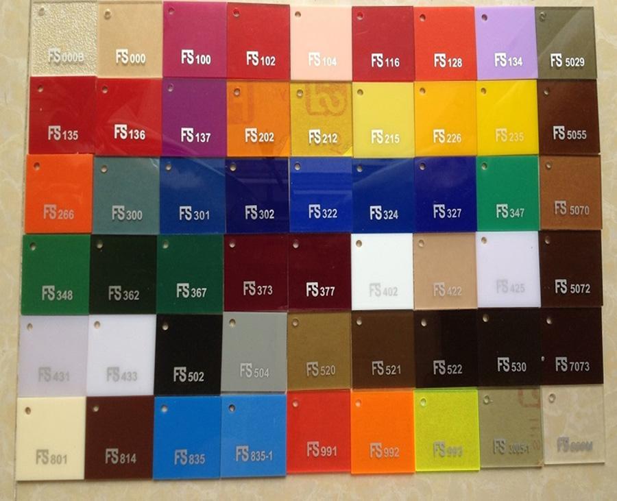 Bảng màu đa dạng