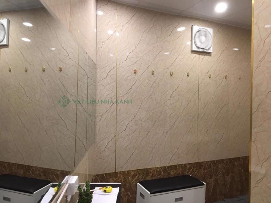 tấm alu viền đá sử dụng ốp tường