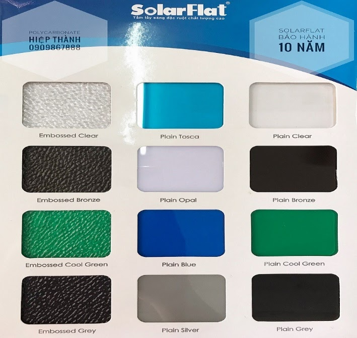 tấm solarflat polycarbonate dac