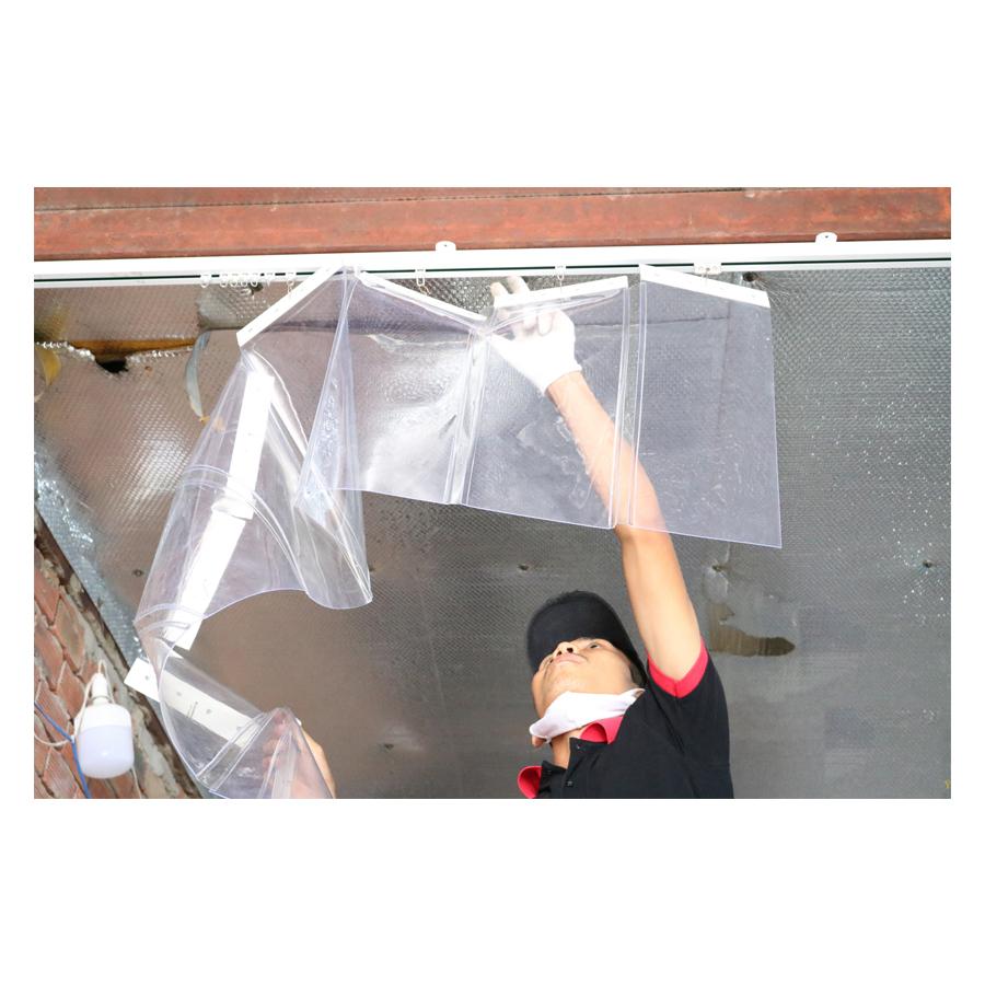 Thi công lắp đặt các loại rèm nhựa, màn nhựa PVC